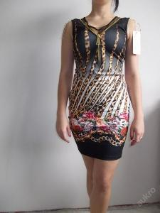 Krásné letní šaty č. 2 vzor leopard + květy