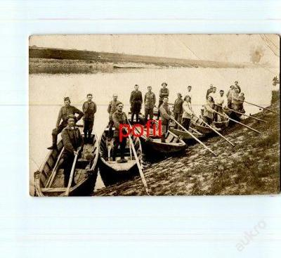 Vojáci na loďkách /255047/