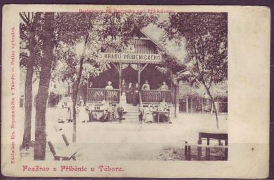 PŘÍBĚNICE u Tábora - Restaurace - cca. 1910