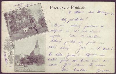 POŘÍČANY - okénková - 1900