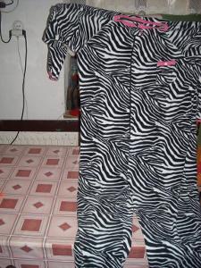 kostým - overal pro dospělé - zebra