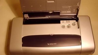 Přenosná inkoustová tiskárna HP DeskJet 450wbt sleva
