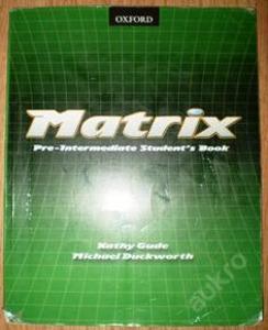MATRIX Pre-Intermediate Student's Book angličtina
