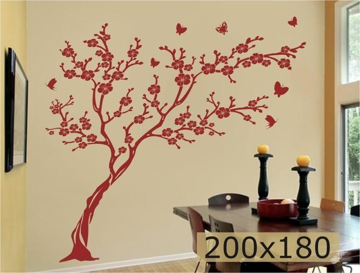 Samolepka na zeď _ japonská třešeň 200x180cm strom - Zařízení
