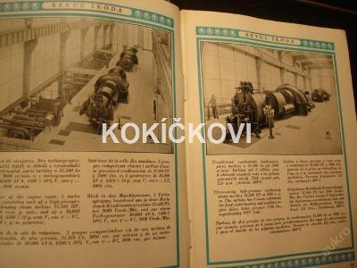 REVUE ŠKODA 1934 elektrárna parní turbiny