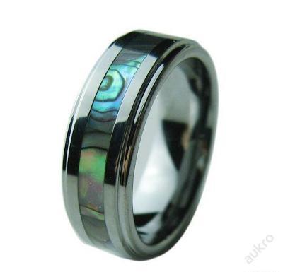 Prsten perleťový pruh WOLFRAM 21mm