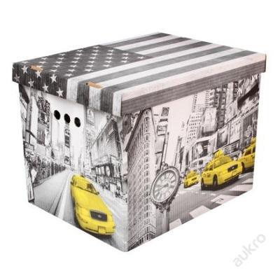 Dekorativní krabice New York XL  úložný box (0002)
