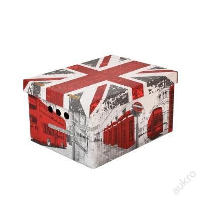 Dekorativní krabice Londýn A4 _ úložný box _(0004)