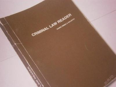 Criminal Law Reader /R.Šimek a kol./