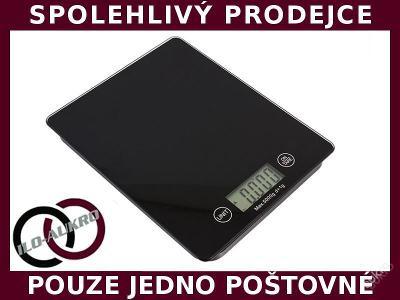 ELEKTRONICKÁ KUCHYŇSKÁ VÁHA SLIM SKLENĚNÁ LCD 5KG