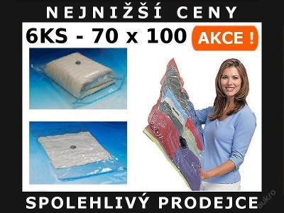 6x VAKUOVÉ PYTLE VAKUOVÝ PYTEL 70 x 100 cm - AKCE!