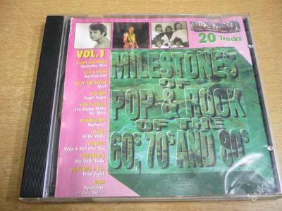 CD Milesotnes of Pop,Rock of the 60´s - 80´s vol.1