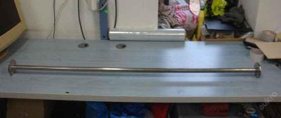 Nerezová garnýž / tyč do otvoru / kabinek 1,3-1,5m