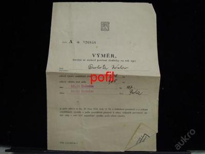 Výměr na rok 1957 /254158/
