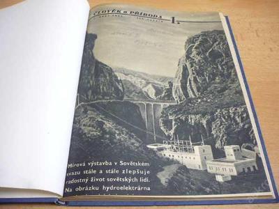 Svázaný časopis ČLOVĚK A PŘÍRODA roč.III 1951-1952