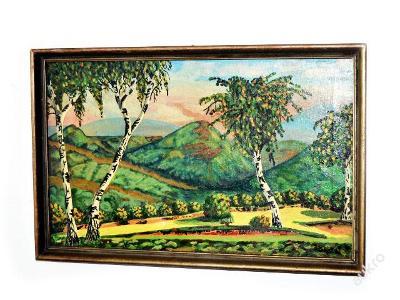 obraz, olej na plátně, krajinka