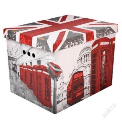 Dekorativní krabice Londýn XL úložný box __ (0001)