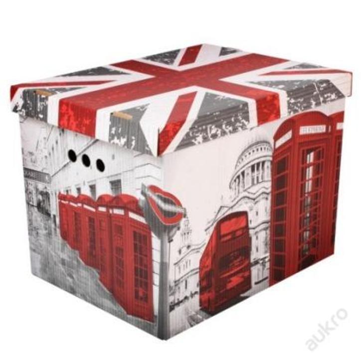 Dekorativní krabice Londýn XL úložný box __ (0001) - Dětský pokoj