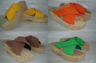 Dámské nazouváky, pantofle Barbara čtyři barvy