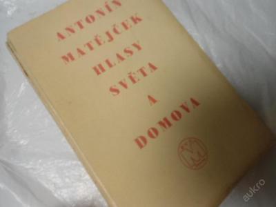 Matějček: Hlasy světa a domova (1931) Kotěra Mánes