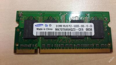 512 MB DDR2 RAM SO-DIMM Samsung
