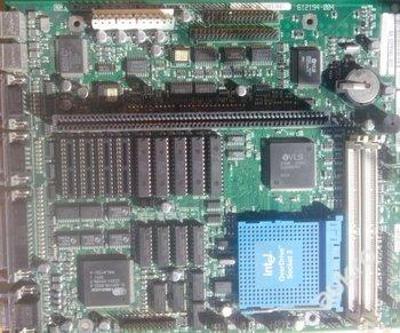 Naprosté unikum historická deska modrý socket INTEL č.2 pro sběratele