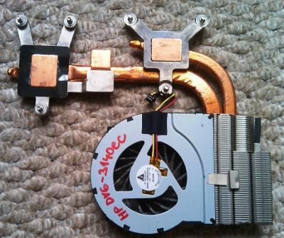 Ventilátor chlazení HP DV6-3140ec + chladič