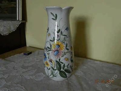 Krásná stará ručně malovaná porcelánová Váza květiny Castel Italy