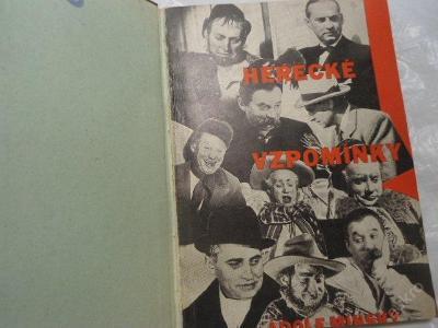 Herecké vzpomínky - Adolf Minský / 1943 fotoobálka / SLEVA