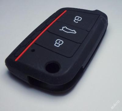 SILIKONOVÝ obal na klíč ŠKODA,SEAT,VW ČERNÝ