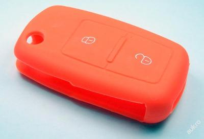 SILIKONOVÝ obal na klíč  2 tlačítka oranžový