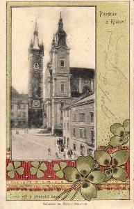 Klatovy 1901  -  koláž,čtyřlístek