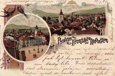 Frenštát pod Radhoštěm 1904 - Nový Jičín , koláž