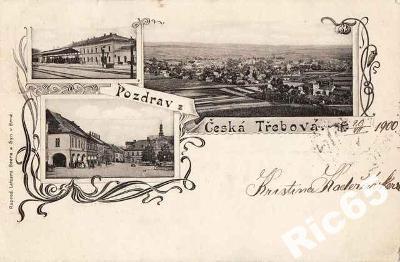 Česká Třebová 1900 - Ústí nad Orlicí , koláž