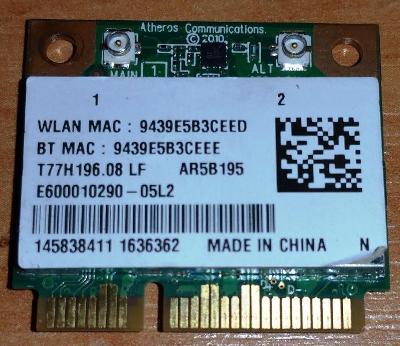 Wifi  T77H196.08 LF z Sony VAIO PCG-71811M