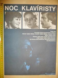 Filmový plakát - NOC KLAVÍRISTY (II.verze plakátu)