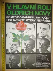 Filmový plakát - V HLAVNÍ ROLI OLDŘICH NOVÝ - 1980