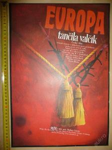 Filmový plakát - EVROPA TANČILA VALČÍK - 1989