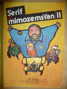 Filmový plakát - ŠERIF A MIMOZEMŠŤAN II. - 1980