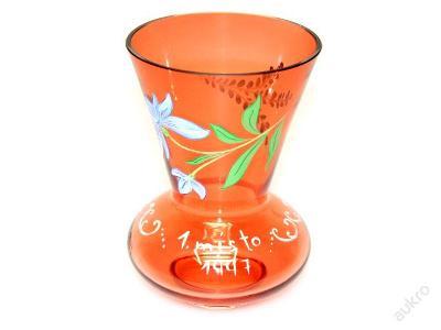váza, malované sklo, 1.místo 1997 :-)