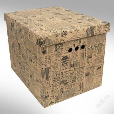 Dekorativní krabice staré noviny XL _ box _ (0456)