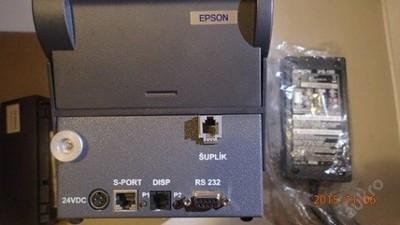Nová černá spolehlivá pokladní fiskální sériová  termotiskárna EPSON - Vybavení obchodu