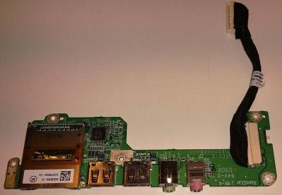 USB + čtečka + audio board z Acer Aspire one ZG5