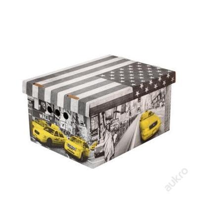 Dekorativní krabice New York A4_ úložný box (0005)