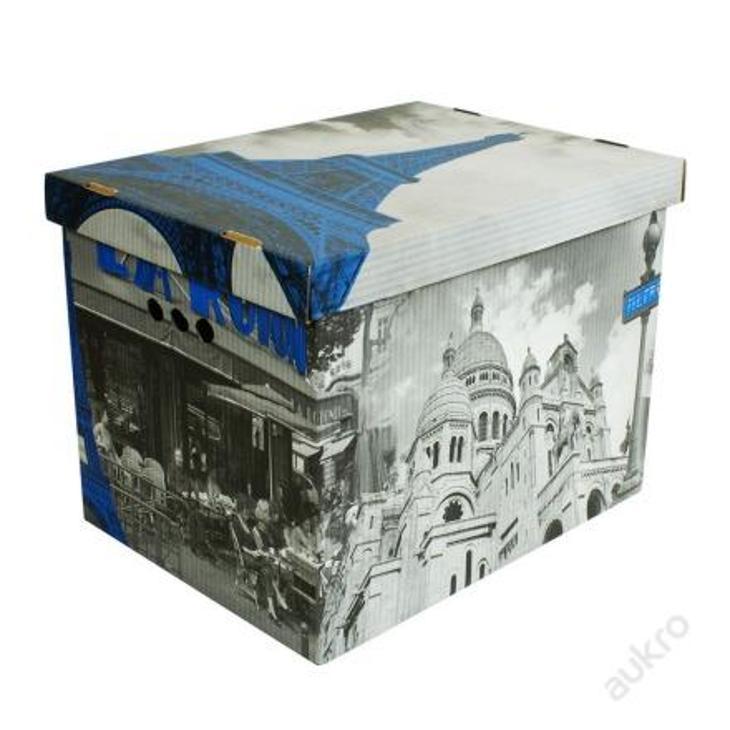 Dekorativní krabice PARIS XL _ úložný box _ (2894) - Dětský pokoj