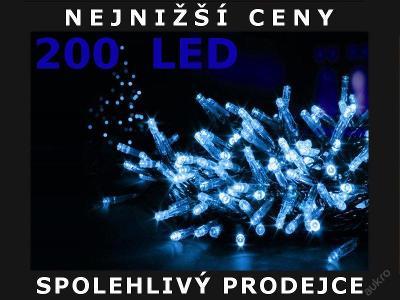 VÁNOČNÍ OSVĚTLENÍ 200 LED - ŘETĚZ MODRÝ LAMPIČKY