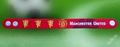 Fotbalový silikonový 3D náramek Manchester United