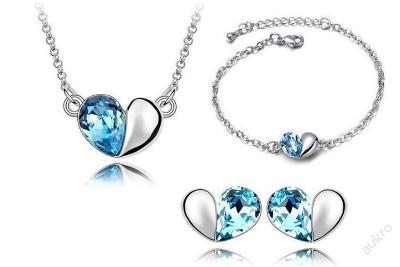 SAD náhrdelník náušnice náramek, krásné krystaly ___ NP6