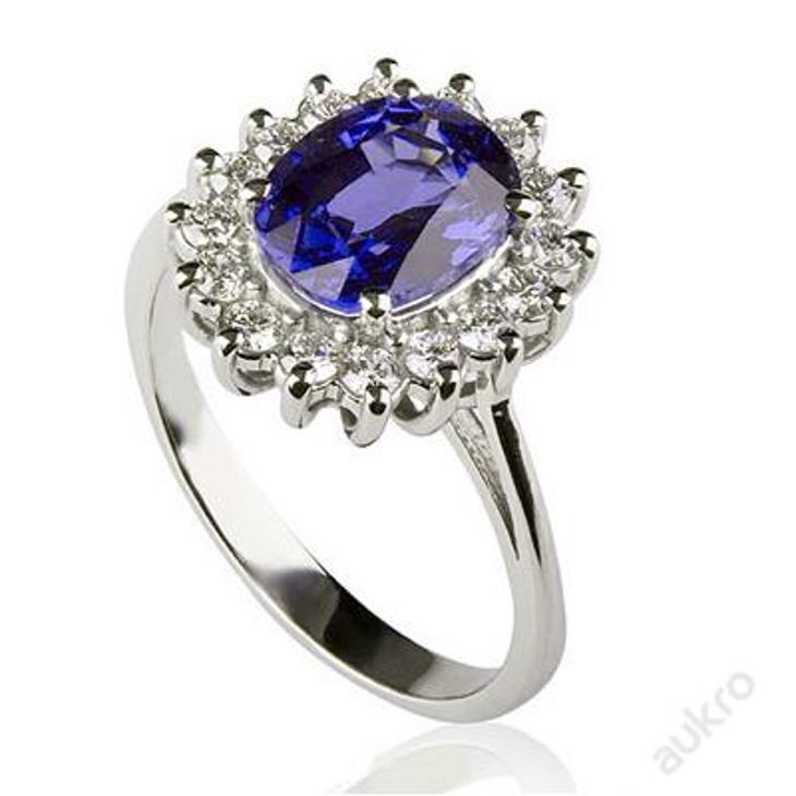 Zlacený zásnubní PRSTEN KATE MIDDLETON / DIANY S57 - Šperky
