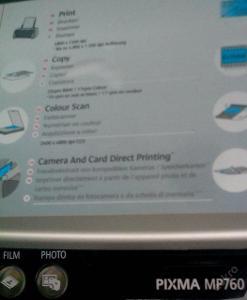 CANON i. multifunkce Pixma MP760 A4 17/25ppm! n.
